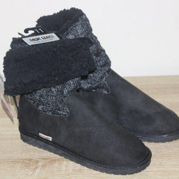 Muk Luke Women's knit boots size 11 black